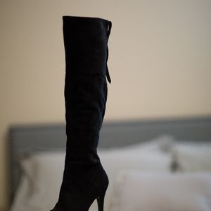 The Platform Over-the-Knee Boot by Charles David